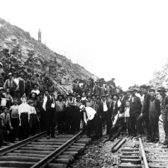 "On July 27, 1906, the dedication ceremony was held near Quarryville in an area called the ""Deep Cut"" officially opening the A&S Branch."
