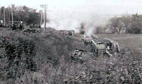 After the CTC ended trolley service, the cars were taken to Rocky Springs, pushed off the track and burned.
