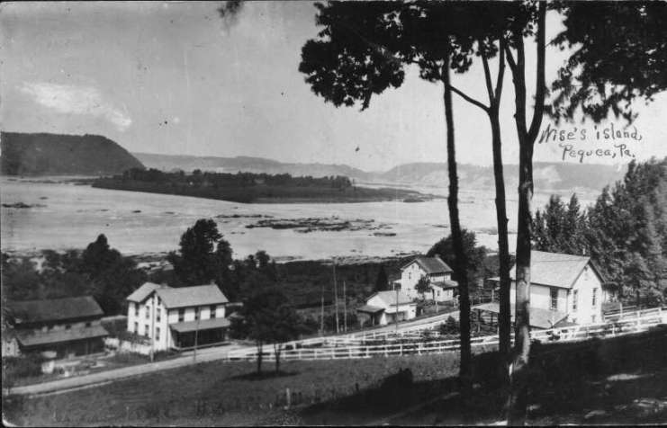 View of Pequea and Wise Island