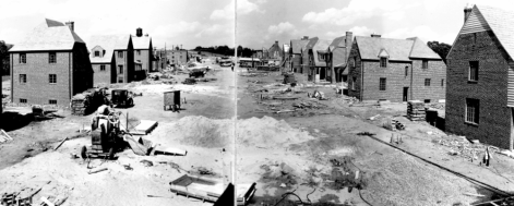 During construction, early 1930s.