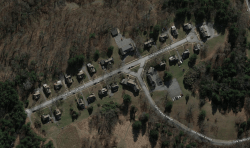 Aerial view of the Village of Safe Harbor.