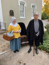 Revolutionary War soldier Ennis Tilghman and his nurse.