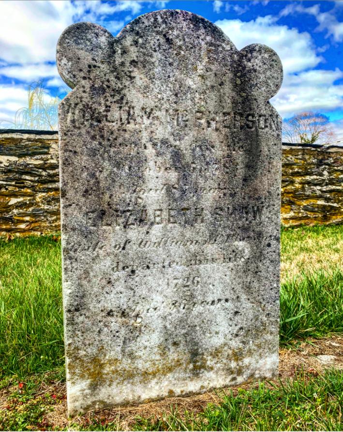 Elizabeth Shaw McPherson 1726