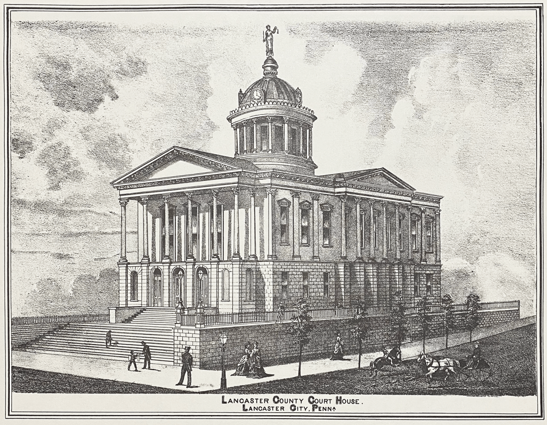 Lancaster County Court House, 1875