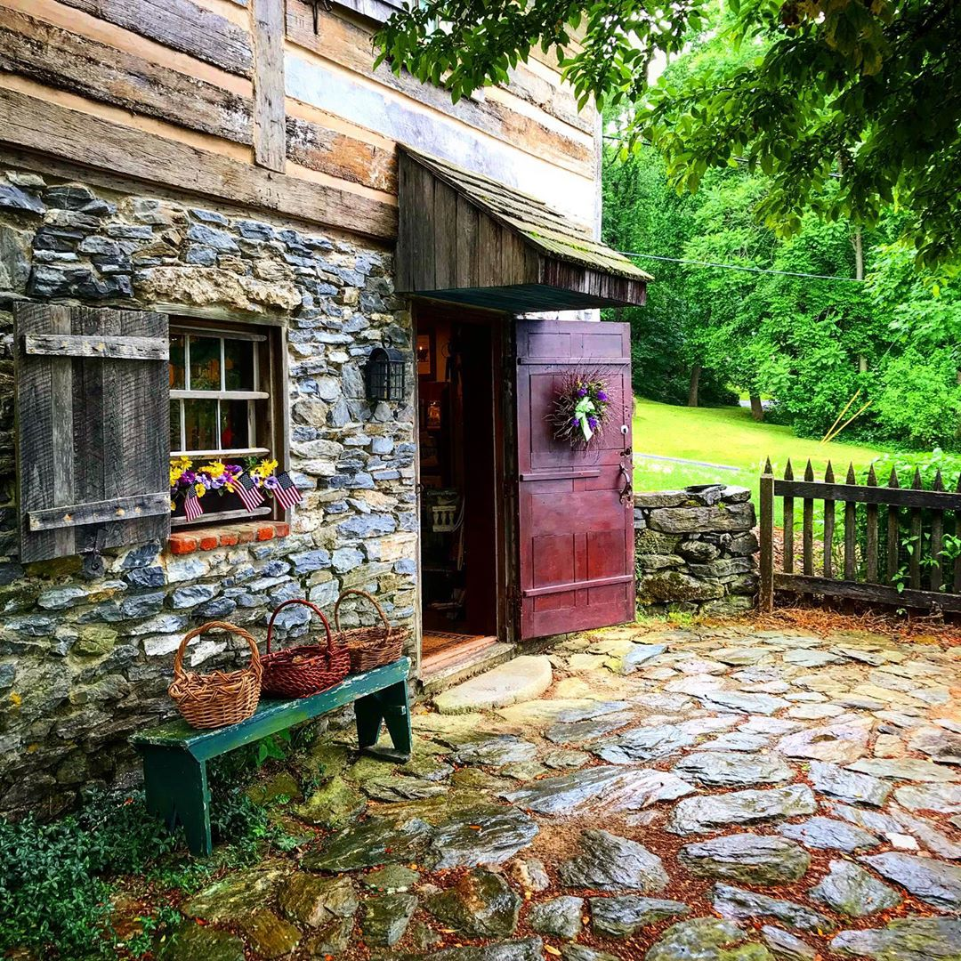 Basement entrance to the Steven Atkinson Log Cabin