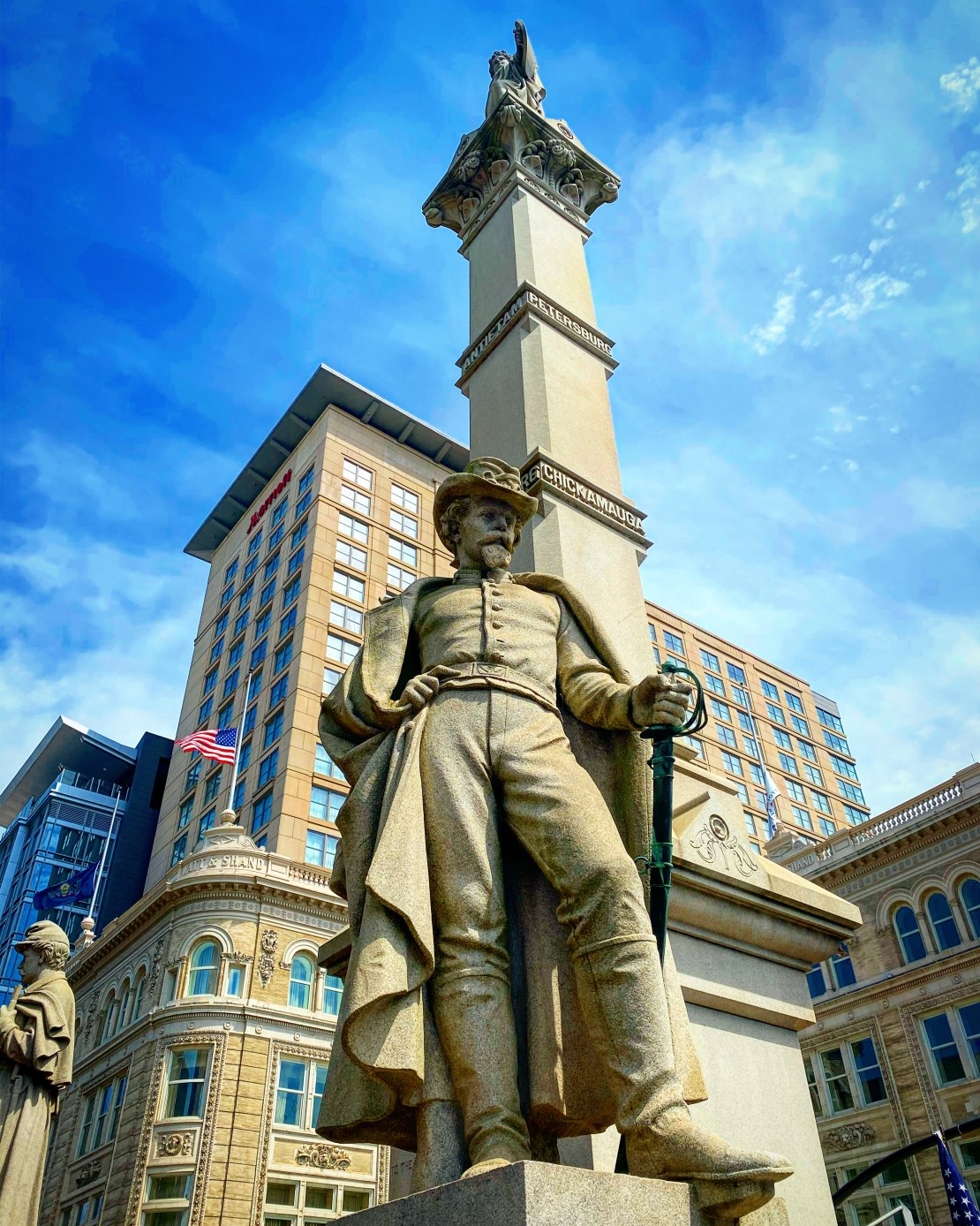 The southwest corner of the monument represents the cavalry.