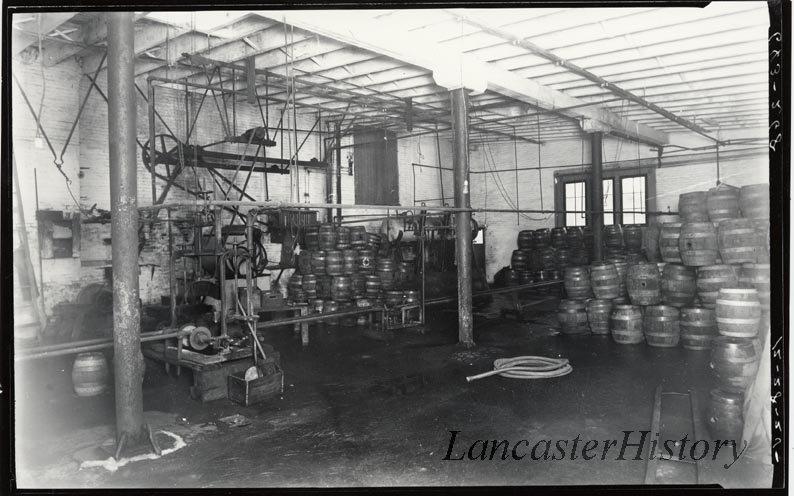 Interior of Rieker Star Brewery.