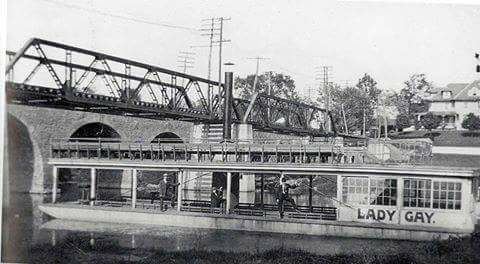 Photo of Witmer bridge & trolley bridge with Lady Gay - Remember When in Lancaster FB post 04-04-2018