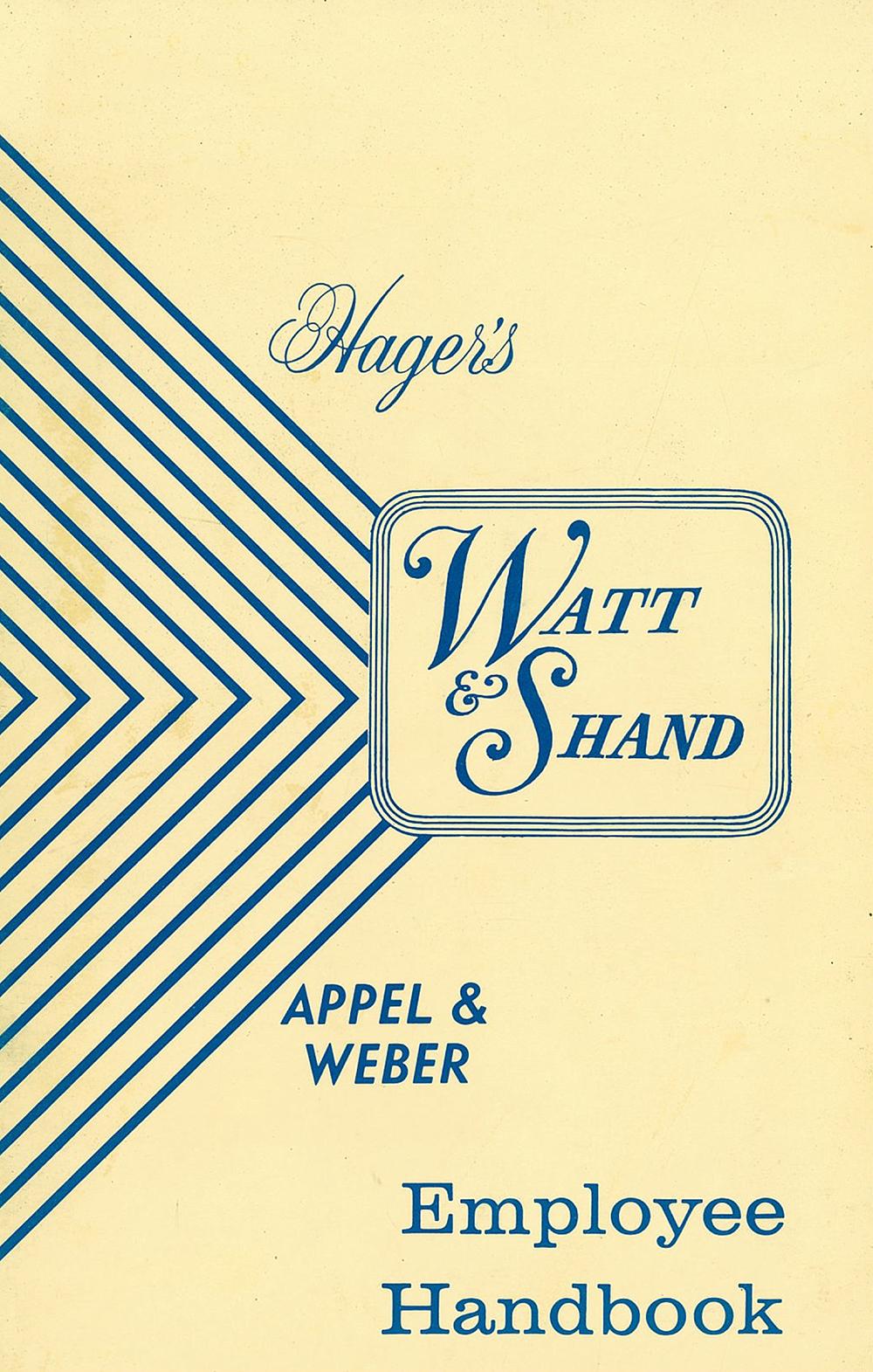 Watt & Shand Employee Handbook, revised January 1976