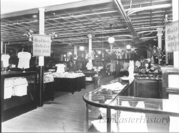 The Family Merchandise Department of Watt and Shand, celebrating its 50th anniversary in 1928.