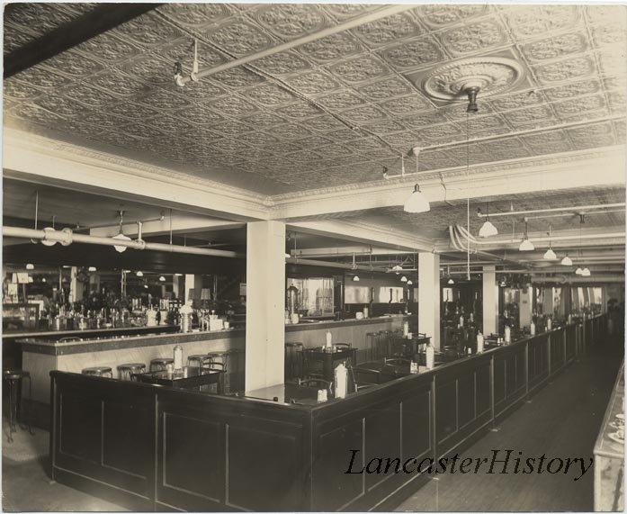 The soda fountain at Watt and Shand's. Later called the Rendezvous.