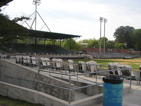 Grainger Field - Kinston, NC - From the 1st base s