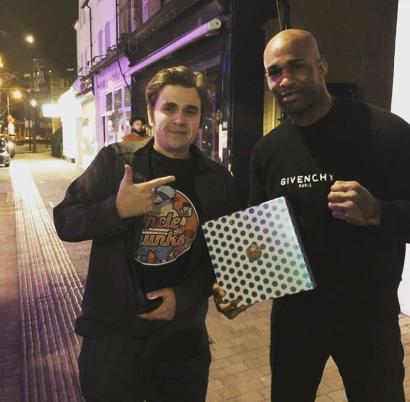 Jimi Manuwa with his cheat day munchies