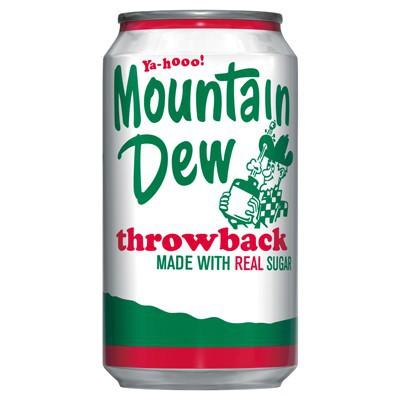 mountain dew throwback soda