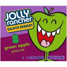 Jolly Rancher Gelatin Dessert Green Apple