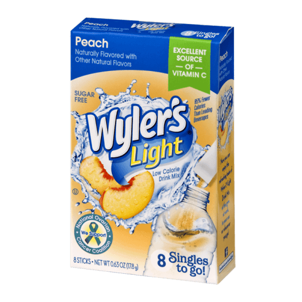 Wyler's Light Singles To Go Peach Drink Box of 8