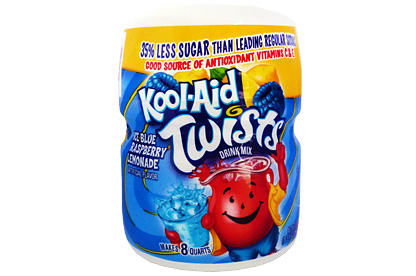 Tub of Kool-Aid Ice Blue Raspberry Lemonade