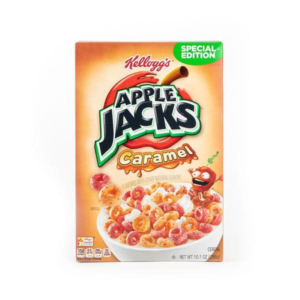 Box of Apple Jacks Caramel cereal