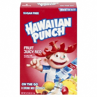 hawaiian punch on the go drink mix fruit juicy red
