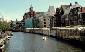 The fragrant Bloemenmarkt is set on moored boats lining the Singel.