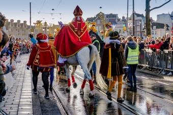Sinterklaas comes to town.