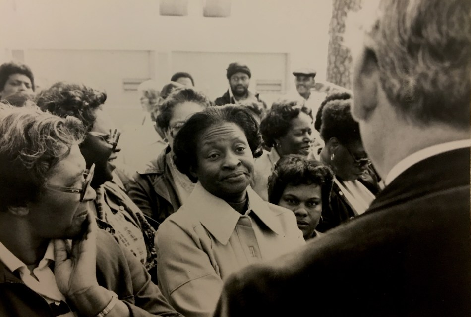 Housekeepers Confrontation of Plant Manager, March 1980 in the John Kenyon Chapman Papers #5441, Southern Historical Collection, The Wilson Library, University of North Carolina at Chapel Hill.