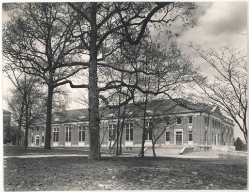 Lenoir Hall: Exterior, circa 1930s-1940s, in the University of North Carolina at Chapel Hill Image Collection Collection #P0004, North Carolina Collection Photographic Archives, Wilson Library, The University of North Carolina at Chapel Hill.