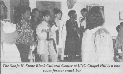 """The Sonja Haynes Stone Black Cultural Center,"" Black Ink, 31 March 1992, Page 1."