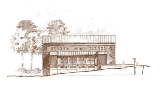 Architectural Drawing for the Stone Center, Grand Opening Celebration, Fall 2004 in the Sonja Haynes Stone Center for Black Culture and History Records #40341, University Archives, Wilson Library, The University of North Carolina at Chapel Hill.
