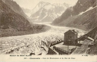 La Mer de Glace vue depuis la gare du Montenvers, avant 1914