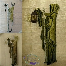 House of Black and White, Hooded Figure Embroidery