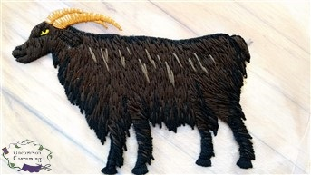 House of Black and White, goat embroidery