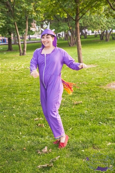 Rainbow Unicorn Jumpsuit, spinning