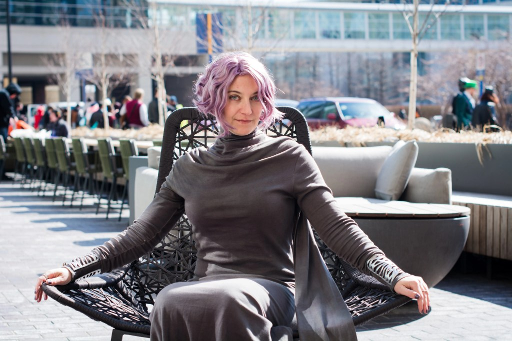 Vice Admiral Amilyn Holdo seated