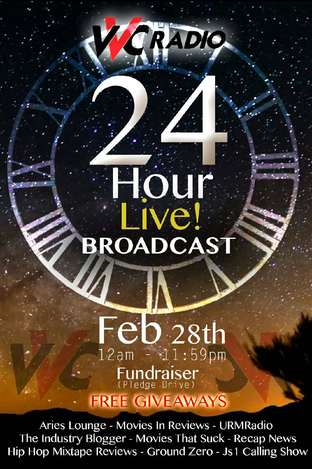[Don't Miss This!] Tune In To VVC Radio's 24 Hour Broadcast  This Saturday!