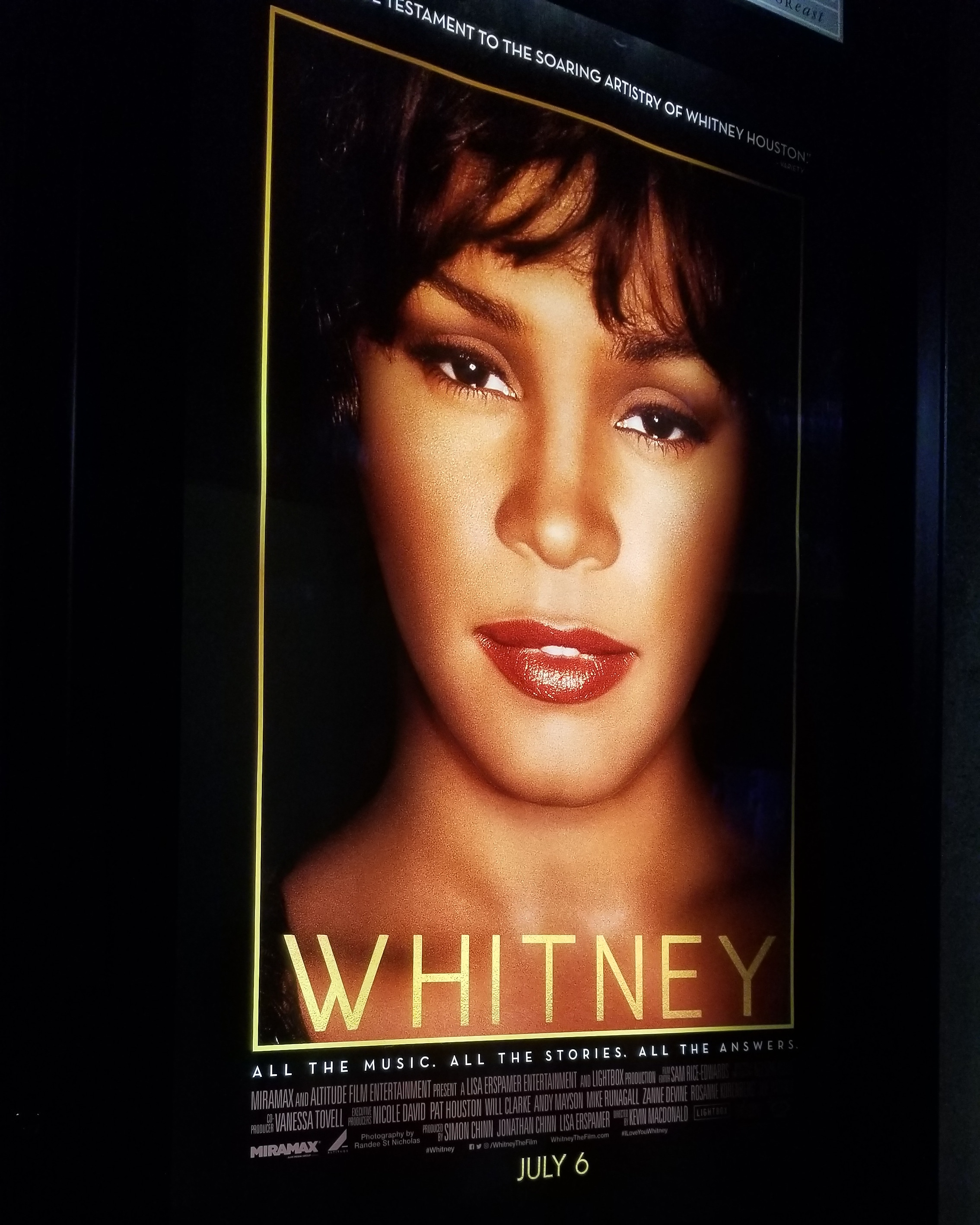 "[Film] ""Whitney"" musical/documentary proves to be cringeworthy, yet informative. [By Shae McCoy]"
