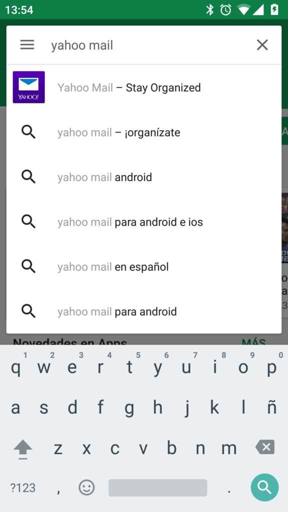 yahoo mail play store