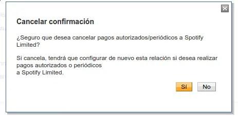 cancelar pago de spotify en paypal