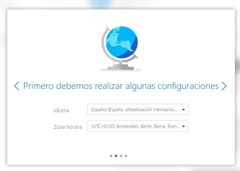 configurar idioma zona horaria Outlook