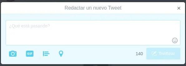 escribir tweet
