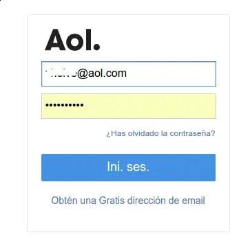 iniciar sesión en AOL Mail
