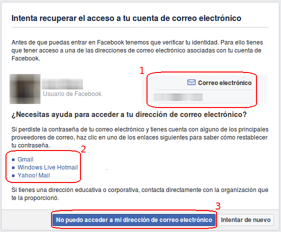 recuperar acceso a cuenta de correo electronico