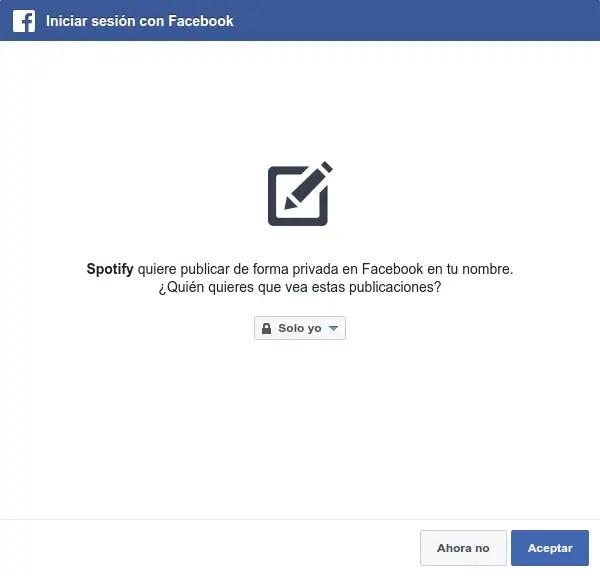 spotify publicar Facebook