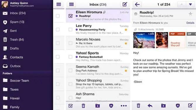 Yahoo Mail! para iOS