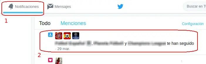 notificaciones de los que te siguen en Twitter