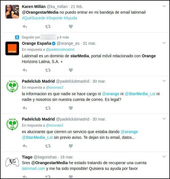 Orange starMedia en Twitter