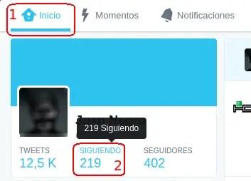 perfil de Twitter