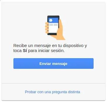 mensaje de verificación