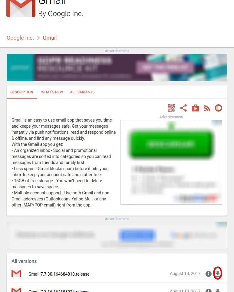 última versión Gmail APK