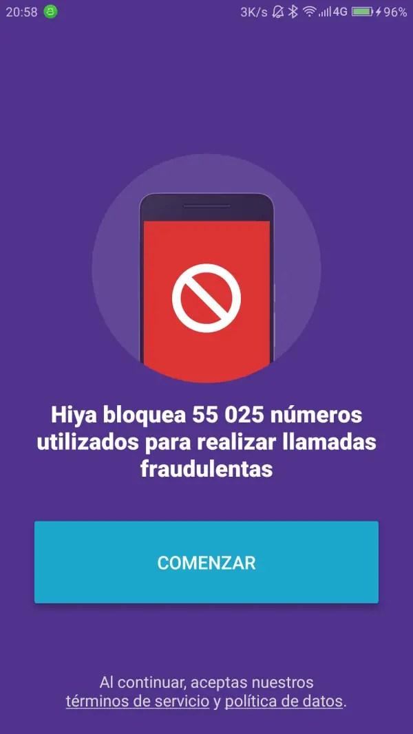 hiya bloquea llamadas fraudulentas